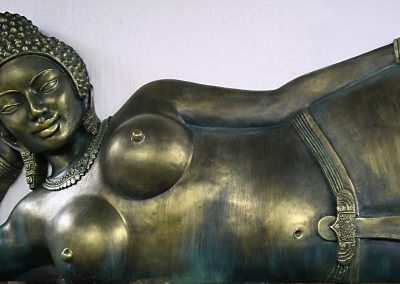 Déesse Cambodge (patine bronze)